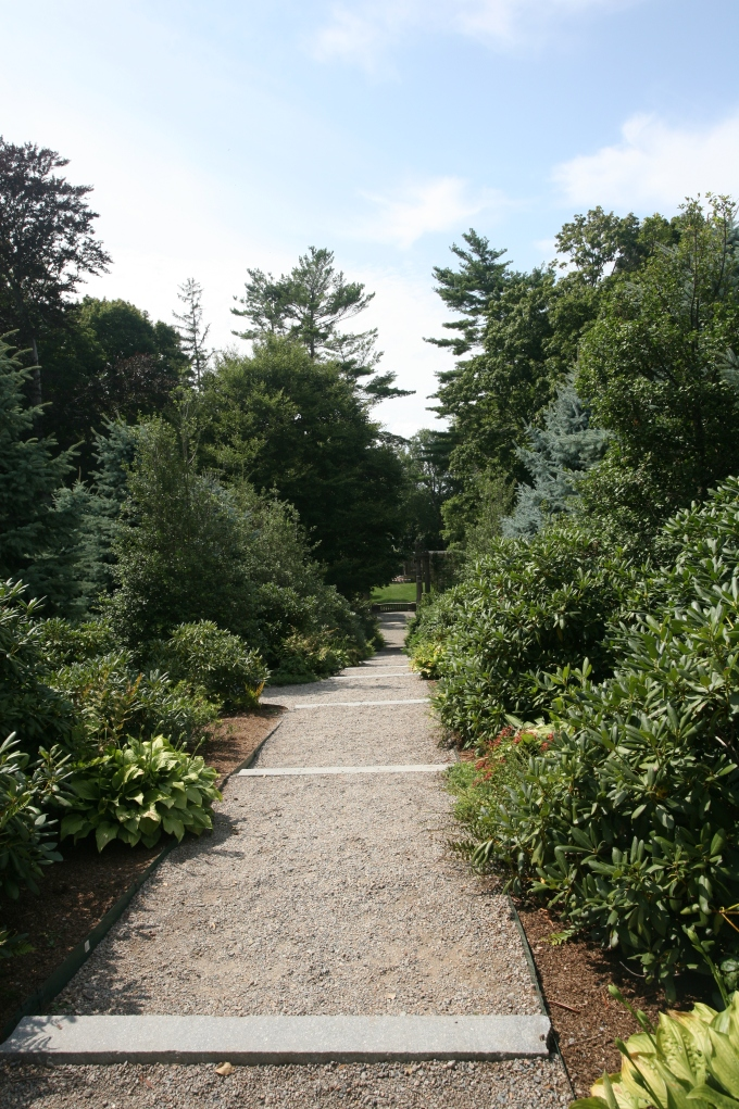 We're by the west side of the Great House, about to start down this steep path, which leads to the Formal Italian Garden.