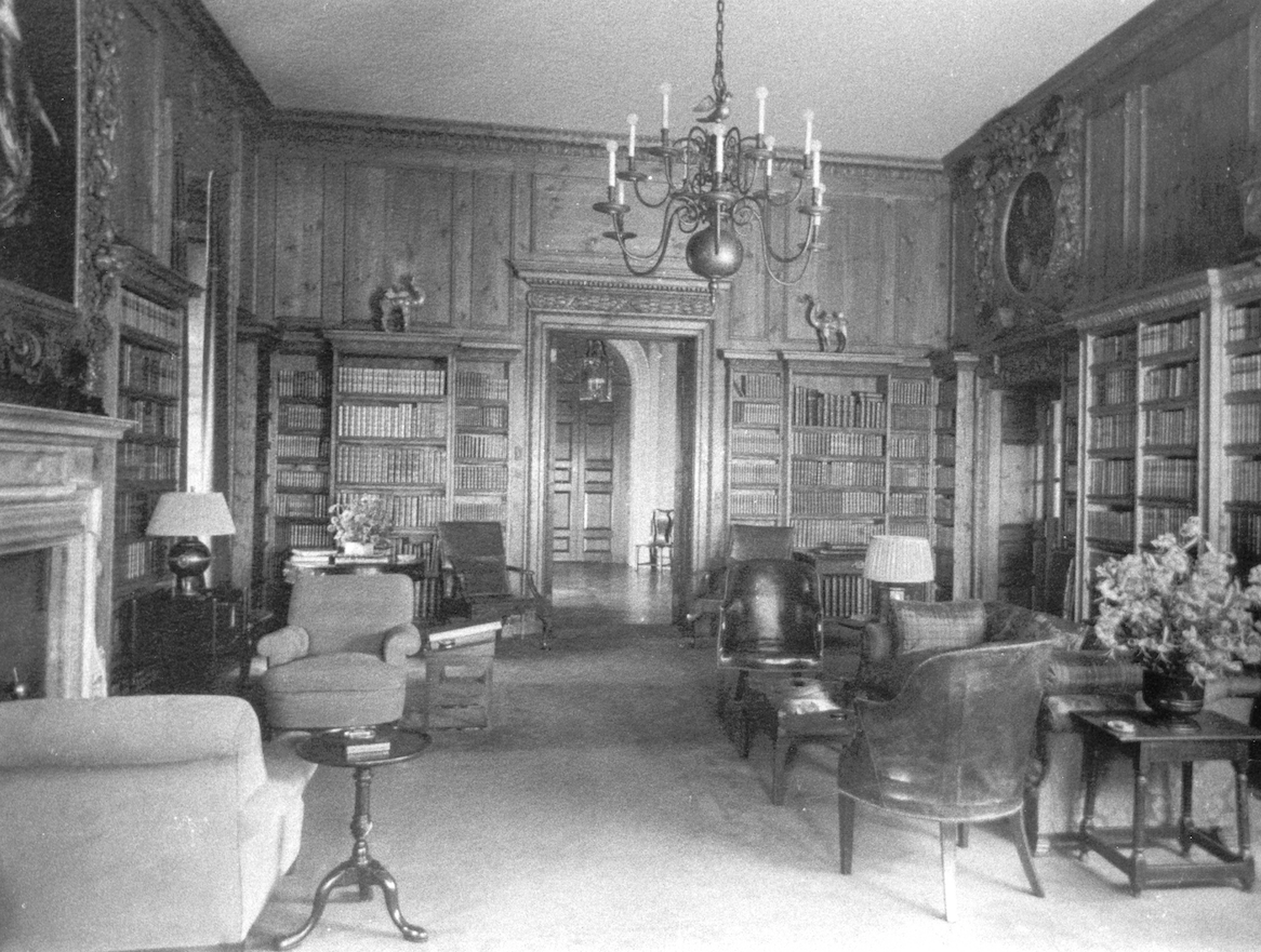 Vintage photo of the Library, as it looked from 1928 until 1949. Image courtesy of the Massachusetts Historical Society.