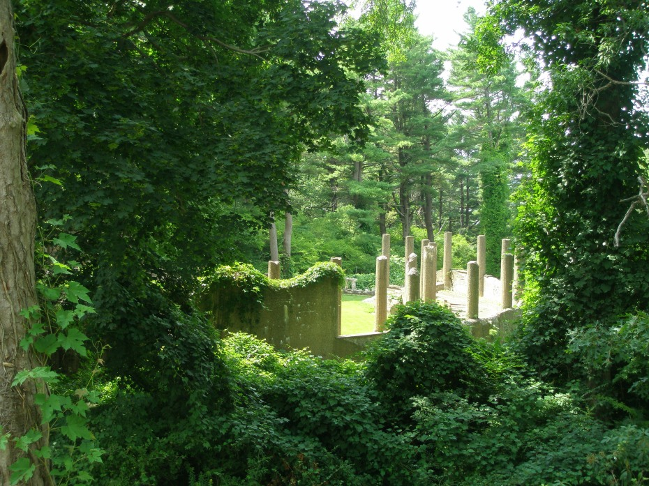 The ruins of the Rose Garden, which is now closed to visitors.