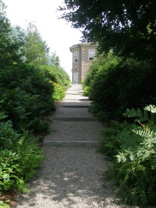Path from the Italian Garden, uphill to the Great House