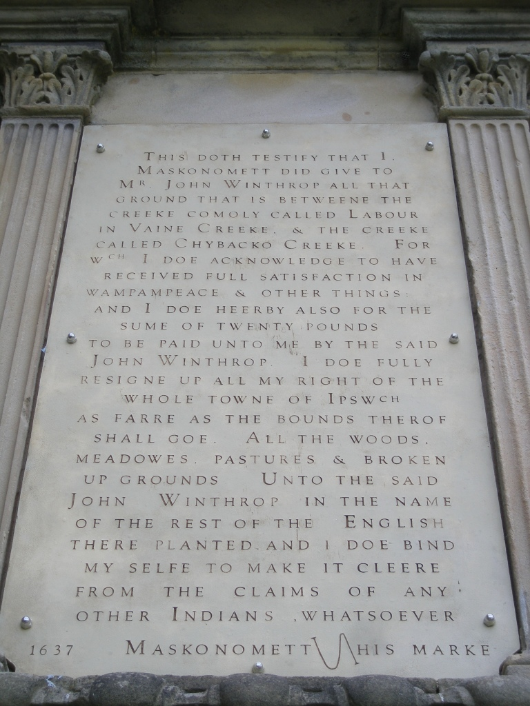 This historical plaque, which records the Sorry Deed, is mounted on the southeast side of the Great House at Castle Hill.
