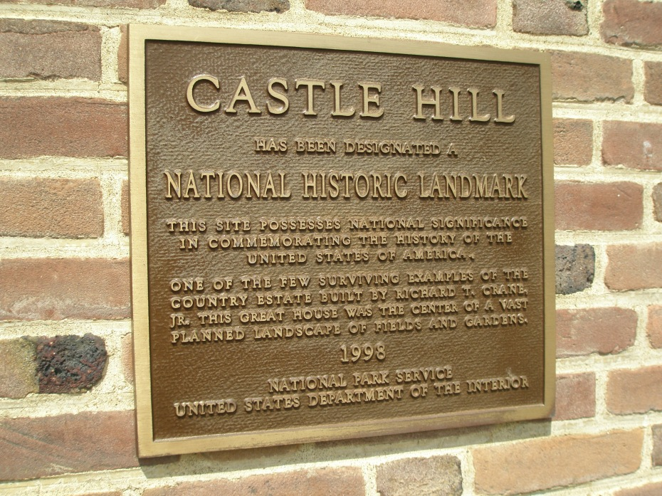Plaque by front entry of the Great House