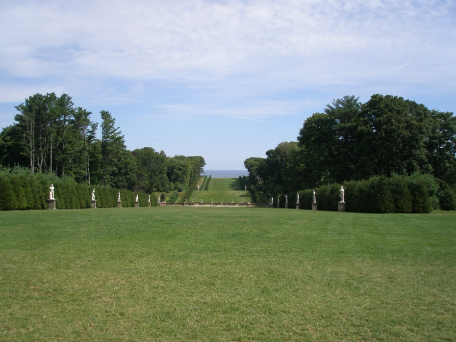View of the Allee, from the north lawn of the Great House