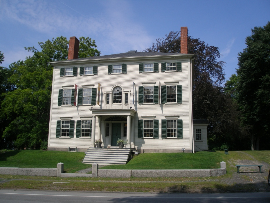 The front elevation of the Heard House, a Federal Style mansion that is now the home of the Ipswich Historical Society.