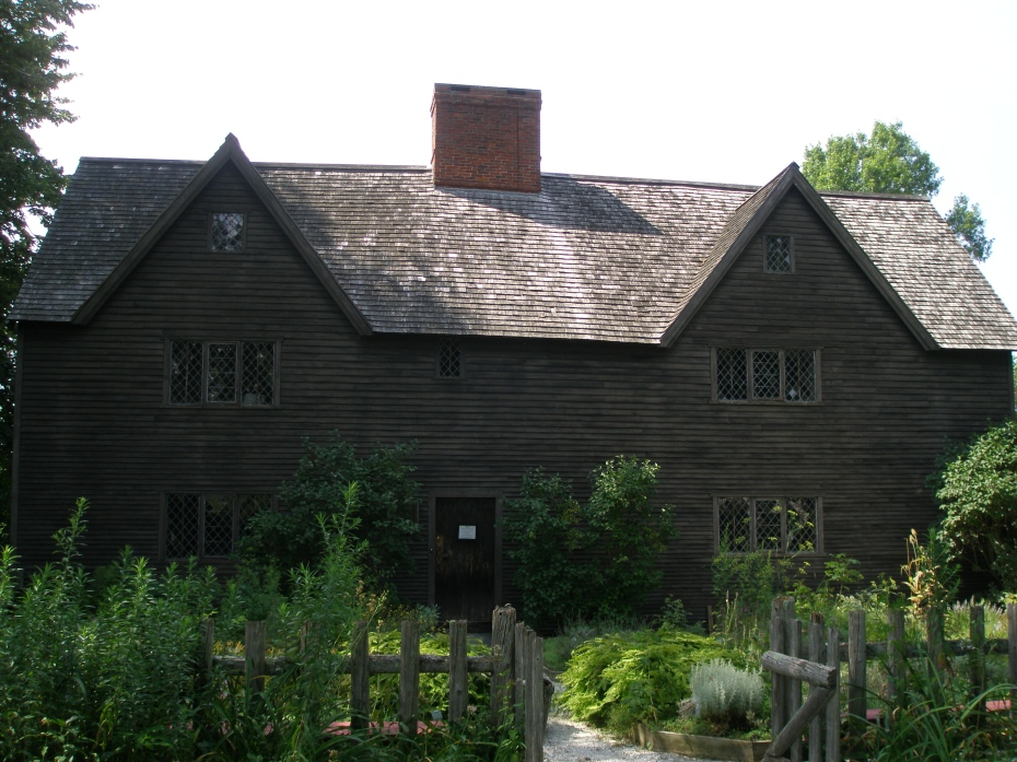 Adjacent to the reproduction of the very modest First Period house is the Whipple House, which the Ipswich Historical Society considers the crown jewel of their historic house collection. The left side of the Whipple House was built in 1655, and the right side added in 1670.