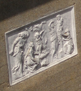 Detail of wall decoration on a Casino pavilion