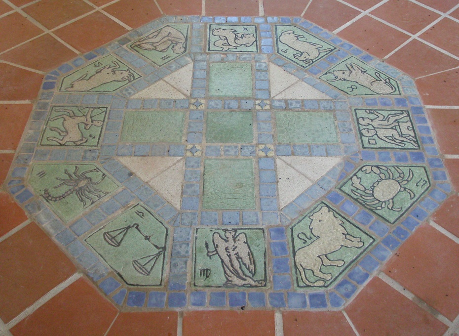 The Zodiac: tiled on the floor of a Tea House