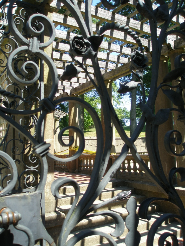 Detail of wrought iron Italian Garden gate