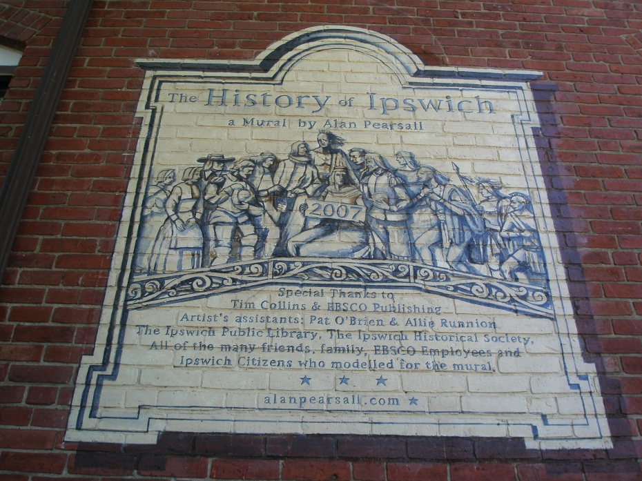 In 2007, Alan Pearsall completed his painted History of Ipswich, which covers two sides of the old mill building complex.
