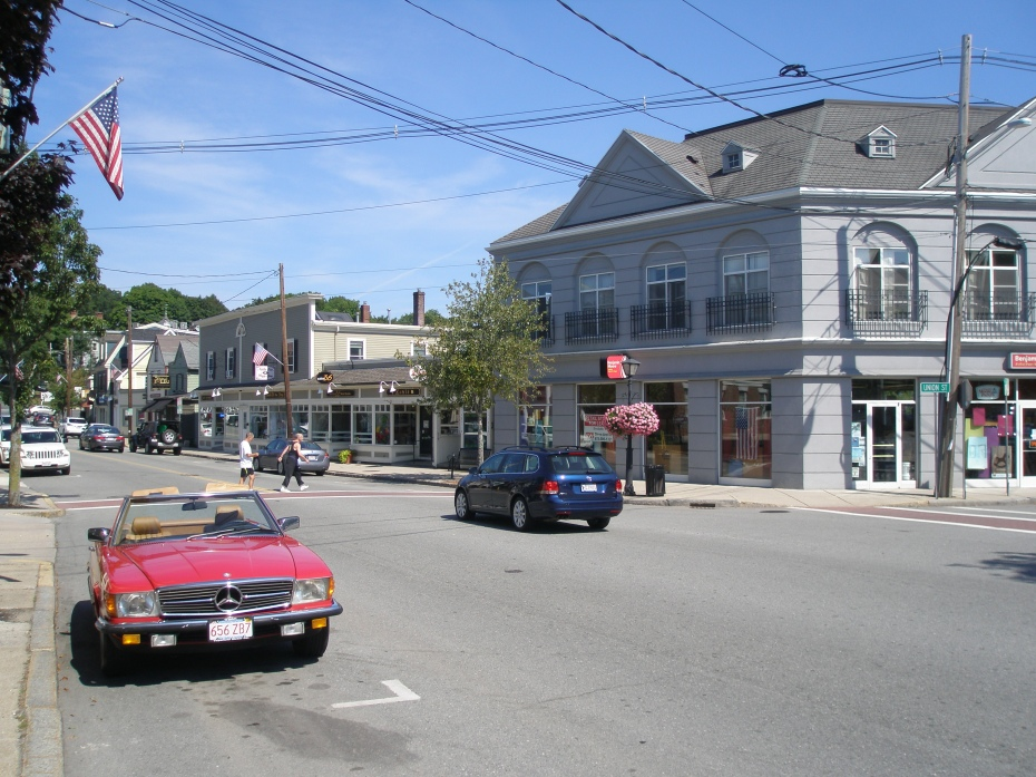 On August 25th, Market Street, the town's main drag, was tranquil.