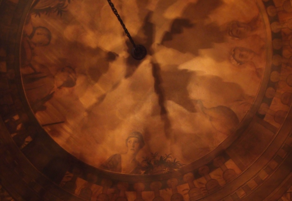 Detail of the ceiling mural in the Rotunda.