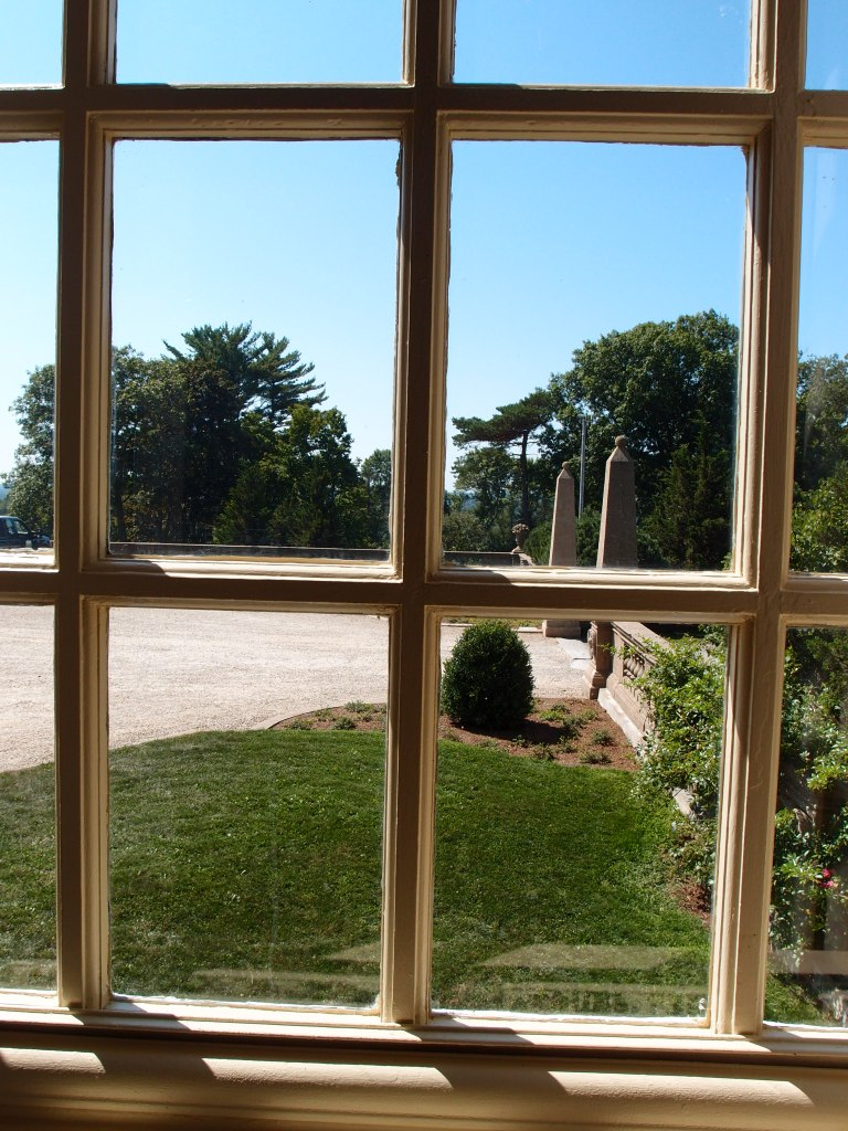 View from the Butler's sitting room, to the front entry drive.