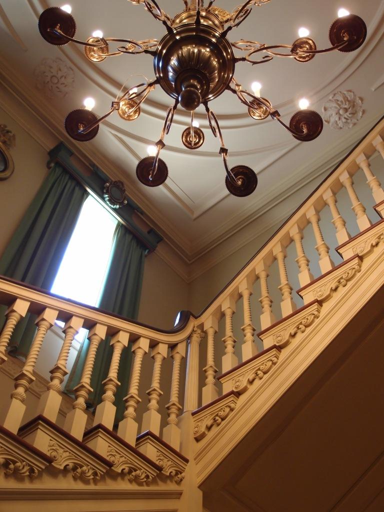 We climb towards the second floor....