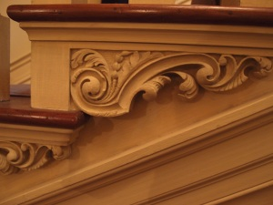 Detail of stair carvings