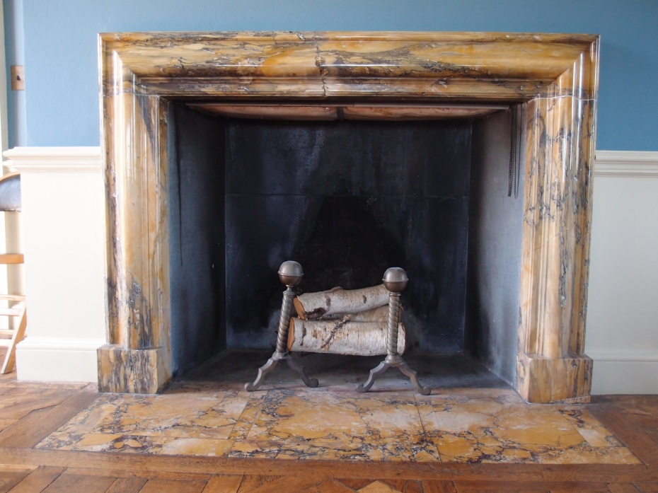Fireplace in Cornelius' bedroom.