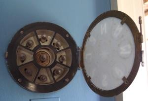 The inner workings of the wind indicator in Cornelius' bedroom.