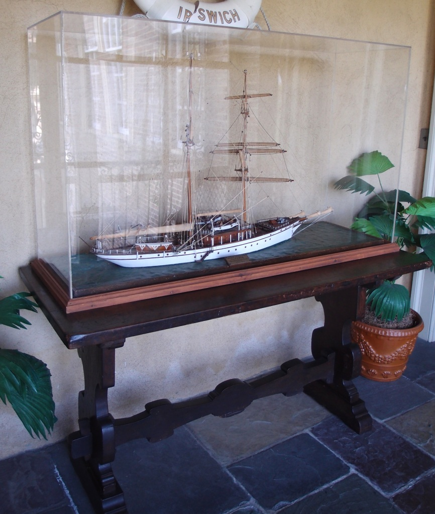 Model of the ILLYRIA, on Cornelius' sleeping porch.