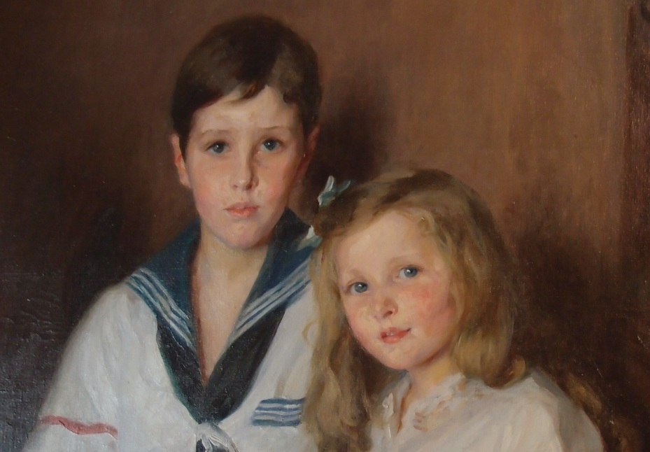 Detail of Lydia Field Emmet's portrait of Cornelius and Florence Crane...who were indeed very pretty children.