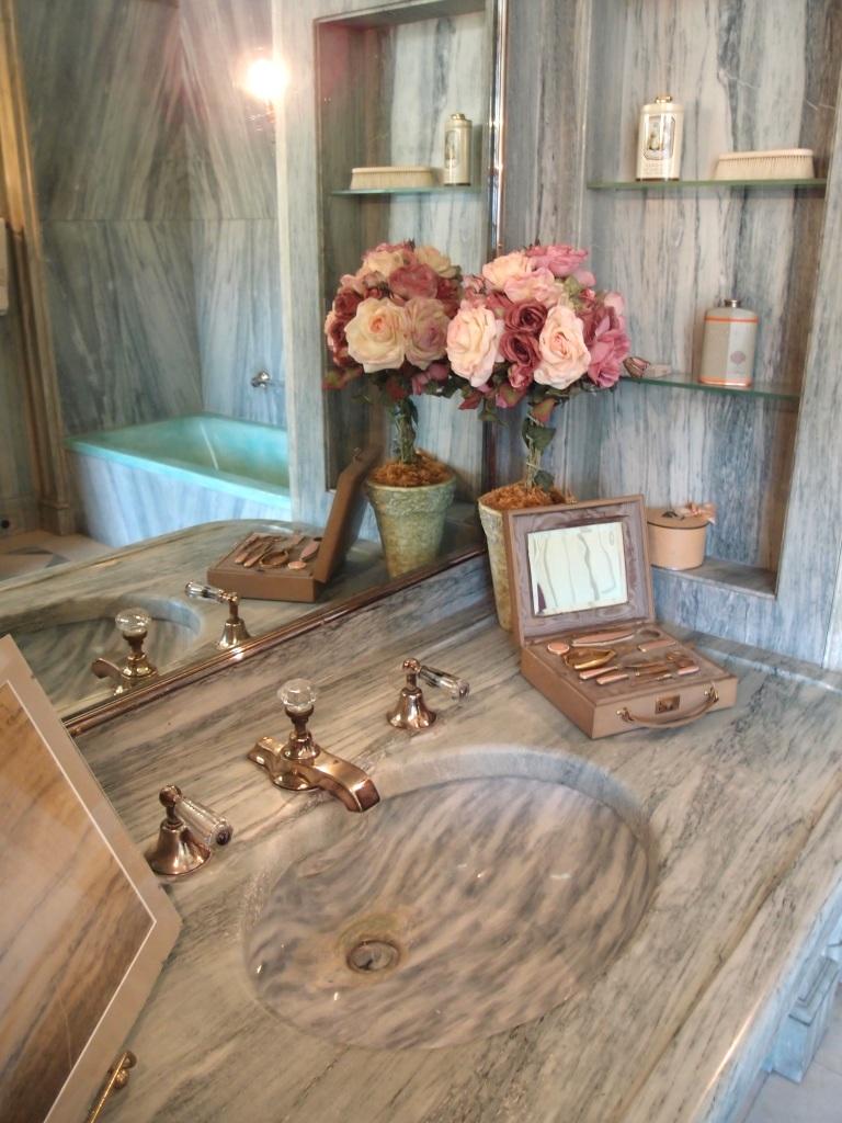 Sink counter in Mrs. Crane's bathroom
