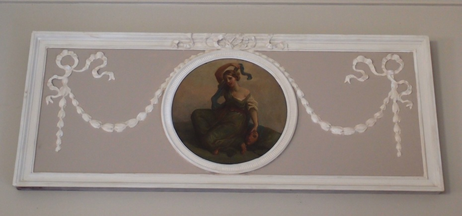 Detail of decoration over door from Florence's bedroom to her sleeping porch