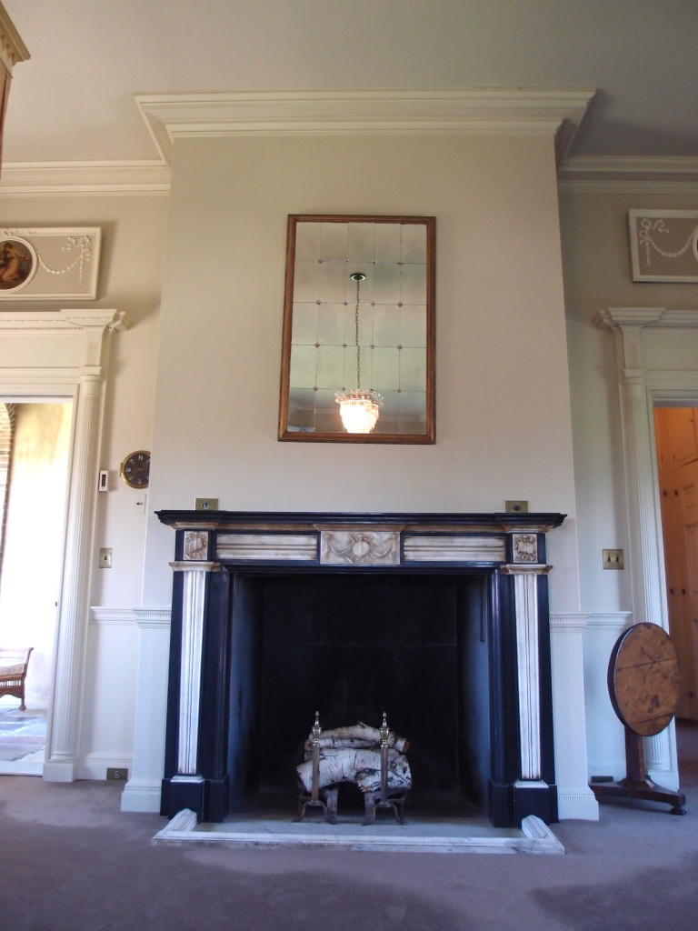 Fireplace in Florence's bedroom.