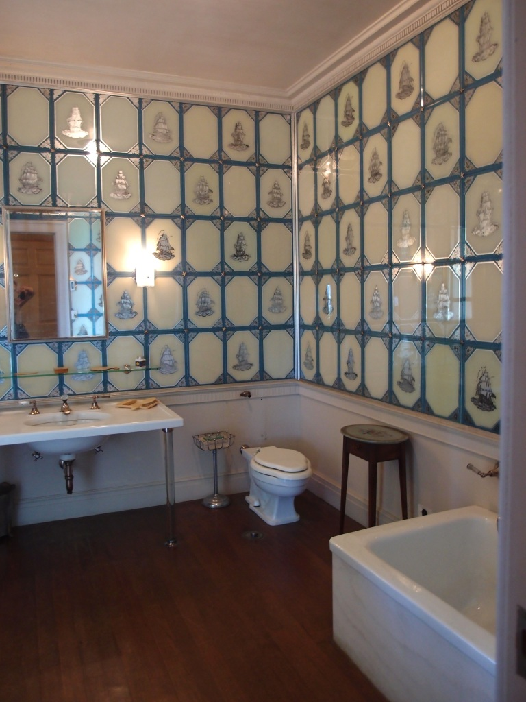 Miss Florence Crane's exquisite bathroom, with its armada of silver ships.