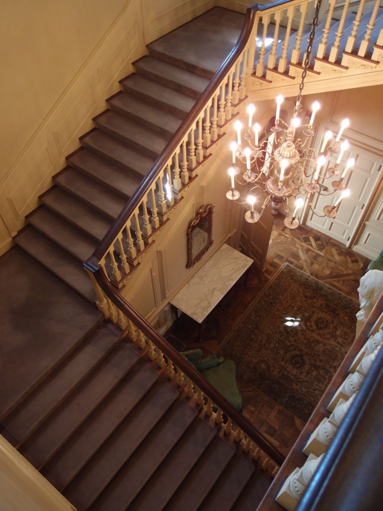 View downward, from the second floor landing.