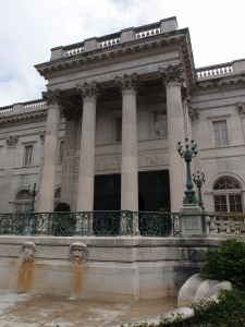 Marble House, in Newport, Rhode Island, was begun in 1898 and completed in 1901. I took this photo on the morning of Sept. 11, 2014.