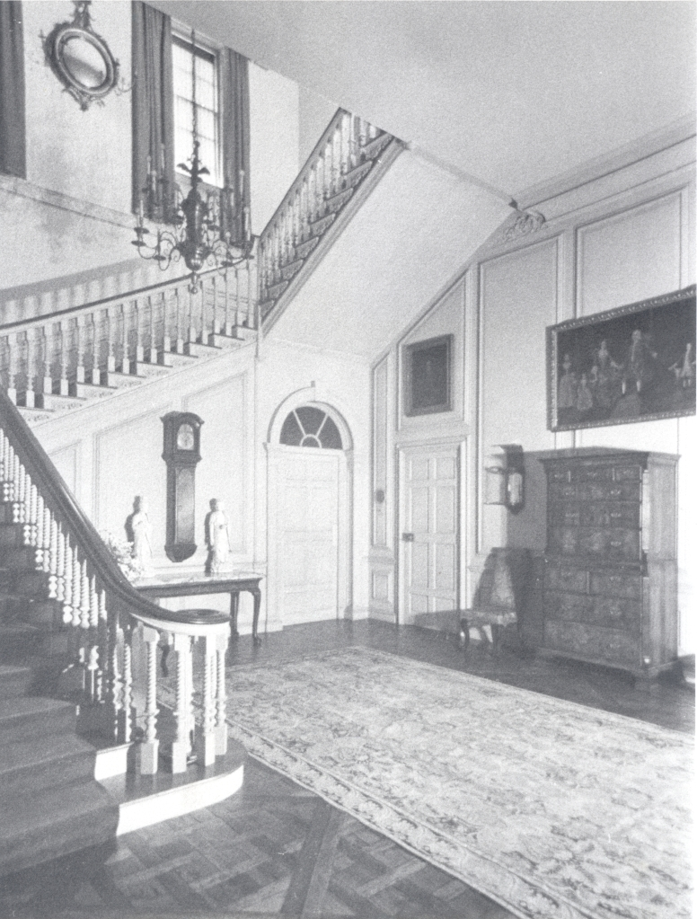 Vintage photo of the Stair Hall, as it looked from 1928 until 1949. Image courtesy of the Massachusetts Historical Society.