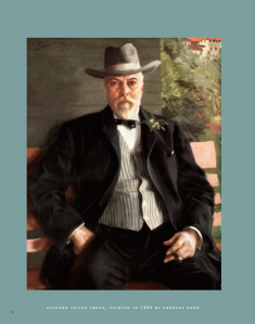 Richard Teller Crane (born 1832, died 1912): founder of the Crane Company. This image of the portrait painted by Andreas Zorn is used, courtesy of CRANE: 150 YEARS TOGETHER, published by the Crane Company.