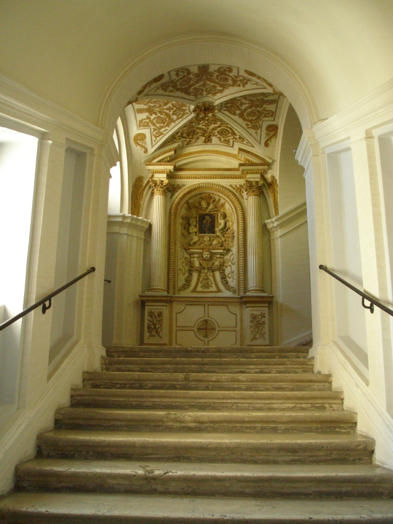 I begin to climb the stairway know as La Scala Borrominiana.