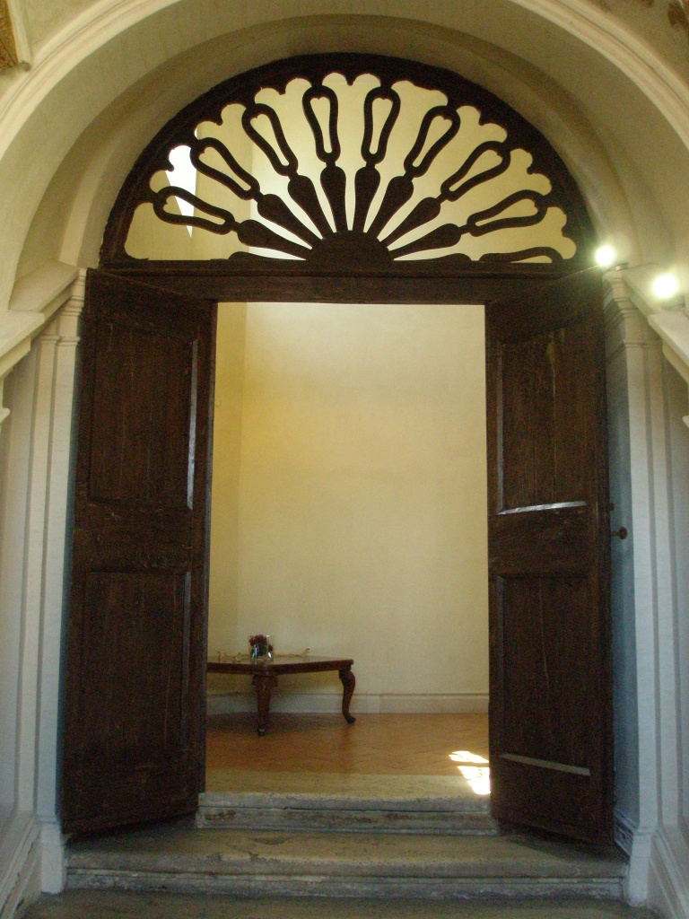Doorway on the landing of La Scala Borrominiana.