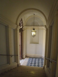 View from the top floor (where I stayed), down to the landing of La Scala Borrominiana.