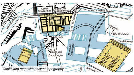 Map of the Capitolum, with Ancient Topography