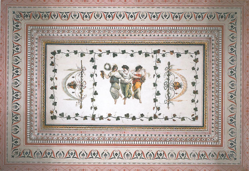 One of the tiniest rooms in the Borghese is decorated with this exquisite painted ceiling. Image courtesy of Galleria Borghese.