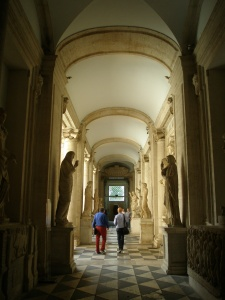 Entering the Palazzo Nuovo