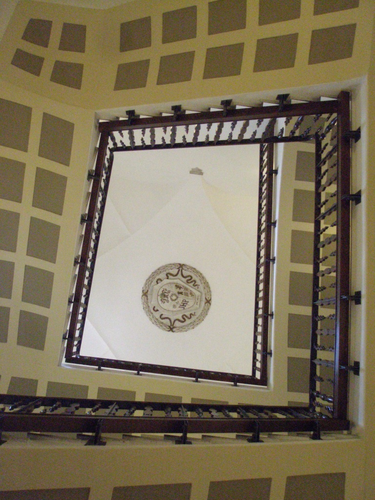 Looking up a stairwell at Palazzo Altemps