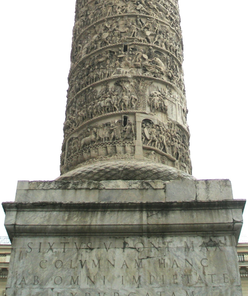 Detail:  Column of Marcus Aurelius