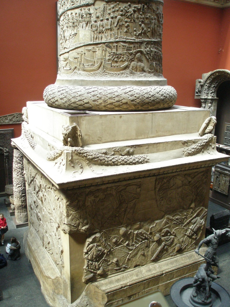 Gargantuan base on the V&A Cast Court replica of Trajan's Column