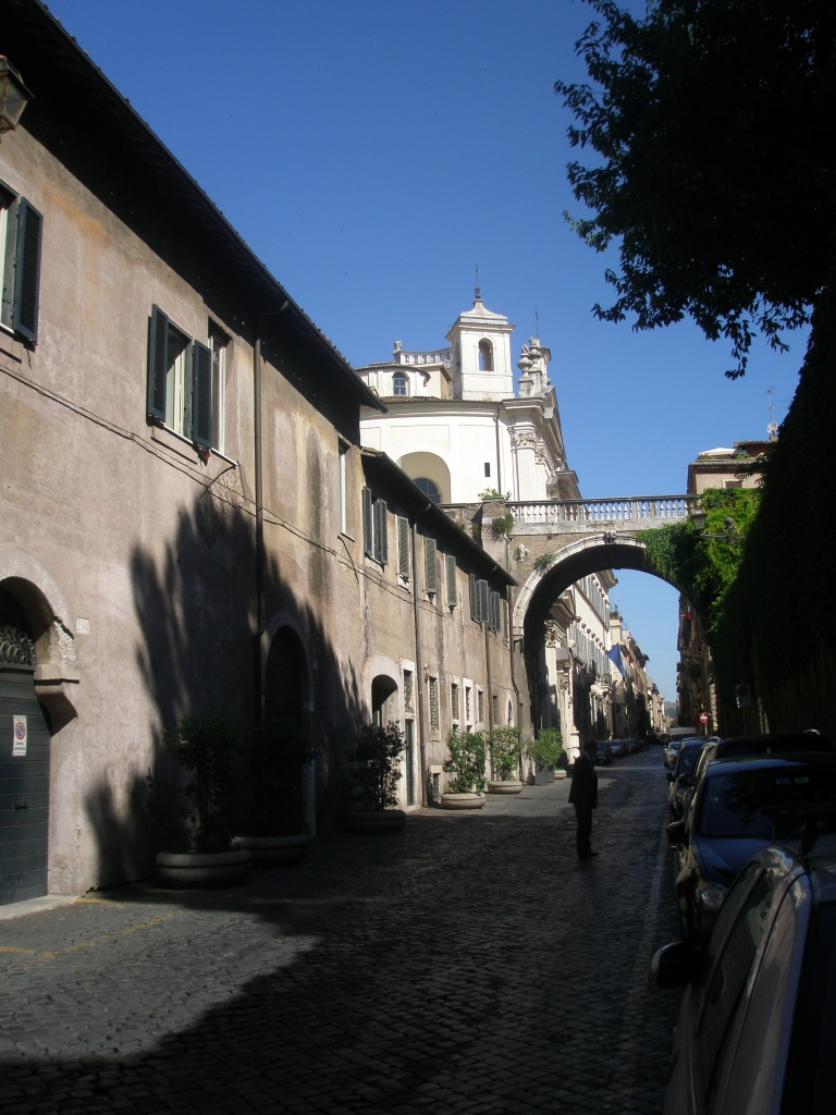 Michelangelo's Arco Farnese, at the southern end of Via Giulia, as I saw it in June of 2011.