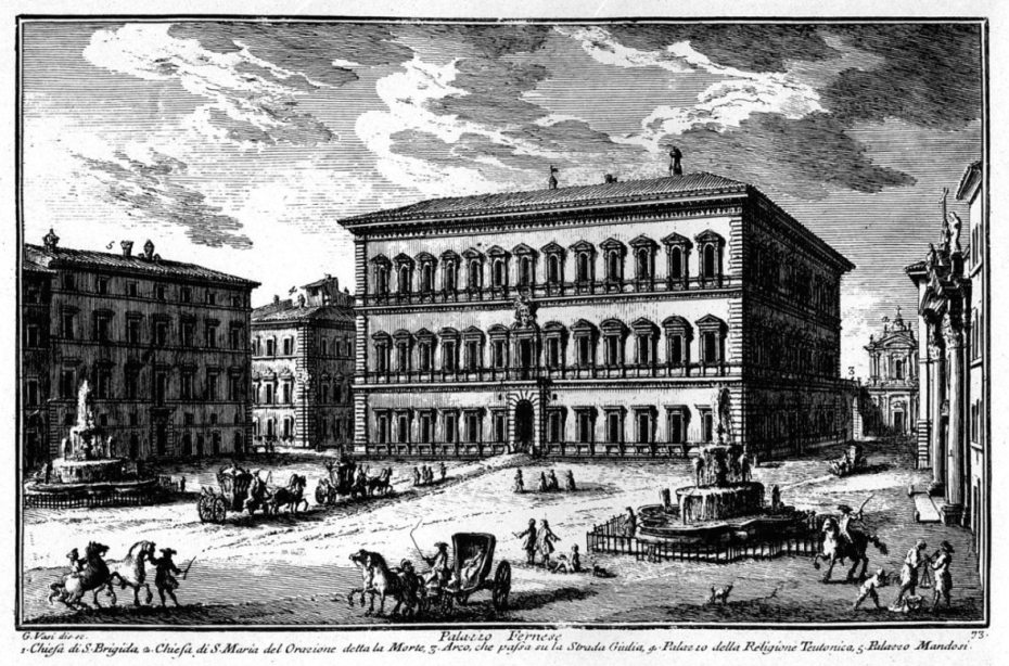 Etching of Piazza Farnese