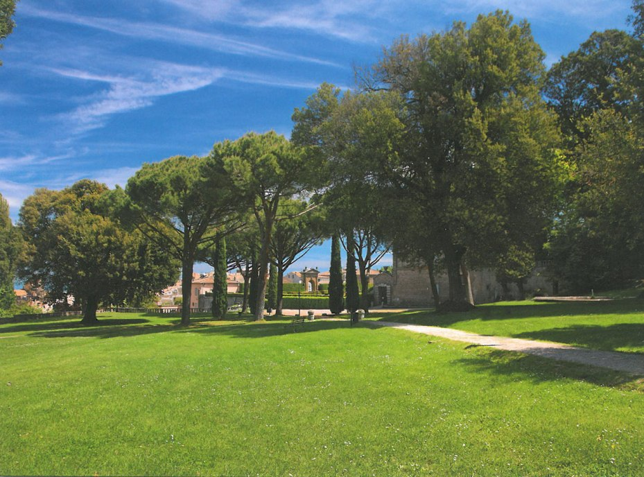 The Parklands at Villa Lante. From the highest point of this Park, we'll soon enter the Gardens Proper, through a gate which leads to the Fountain of the Deluge. Image courtesy of Il Pegaso Bookshop, in Bagnaia.