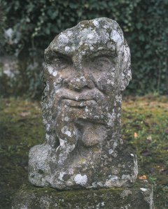 A Herm--adjacent to the Sphinxes. Image courtesy of THE GARDEN AT BOMARZO, by Jessie Sheeler.