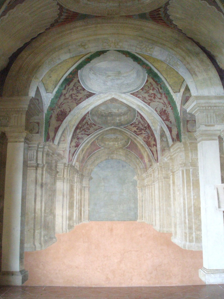 Palazzina Montalto Loggia--wall detail