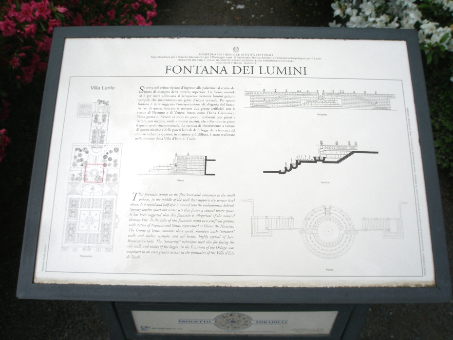 Diagram of the Fountain of the Lights