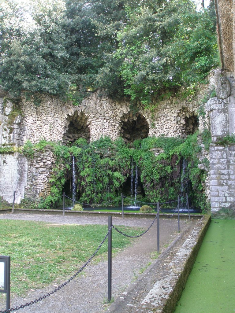 The Grotto of the Fountain of the Deluge. The water supply for the entire Garden issues from the Grotto.