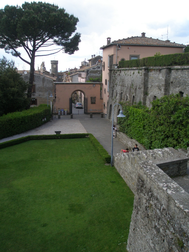 View from the Steps, back toward the Entry Gate, and then to the Village of Bagnaia.