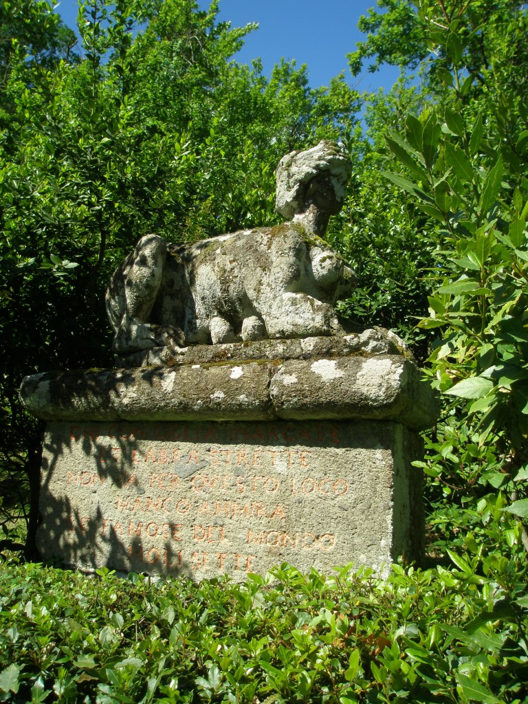 One of a pair of Sphinxes, at the entrance
