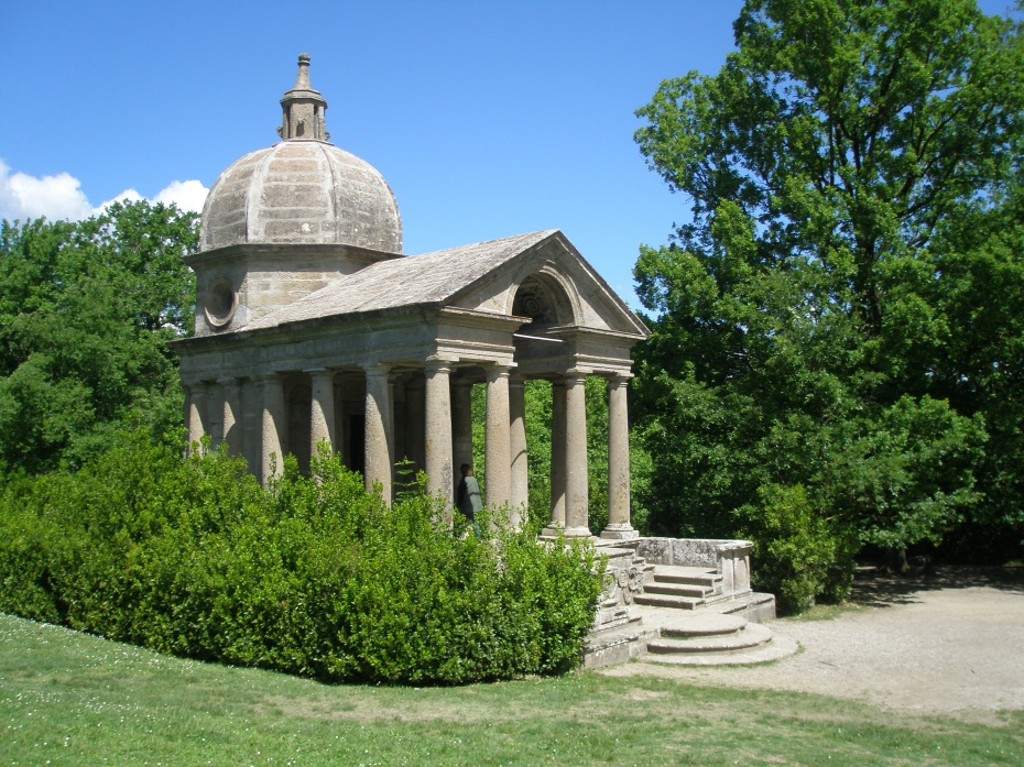 Vicino Orsini built this Temple to honor the memory of his deceased wife Giulia Farnese.