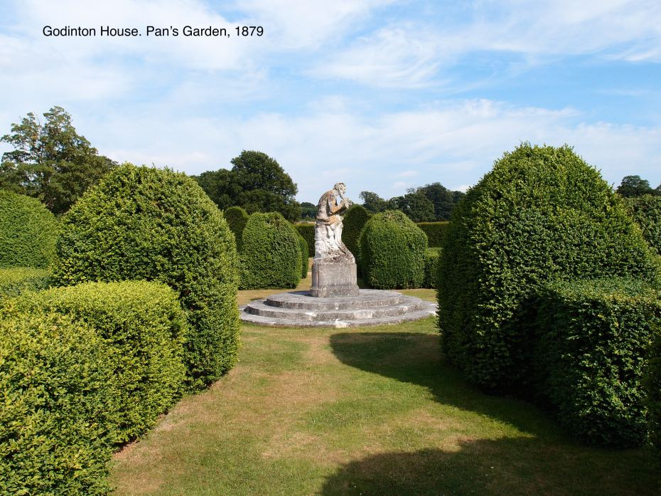 Pan's Garden, is the oldest surviving portion of the gardens.